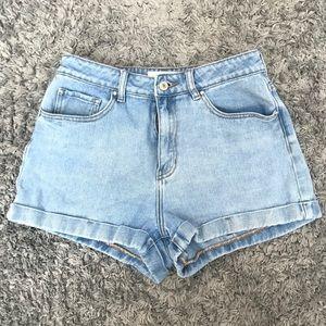 Pacsun denim shorts.